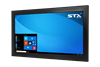 X7600 Industrial Panel Monitor - Resistive Touch Screen - Matte Black Finish