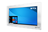 X7600 Industrial Panel Monitor - Resistive Touch Screen - Brushed Aluminium Finish