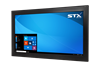 X4218-RT Industrial Panel Monitor - Resistive Touch Screen - Matte Black Finish