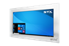 X4600 Industrial Panel Monitor - Resistive Touch Screen - Brushed Aluminium Finish